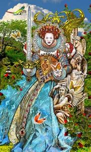 Tarot Illuminatie, Koningin van Zwaarden