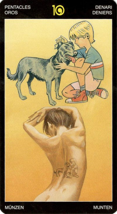 Pentakels 10, Tattoed Tarot