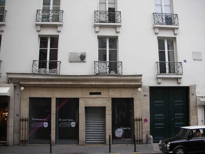5 Rue de Tournon in Parijs - voormalig huis van Mme Lenormand