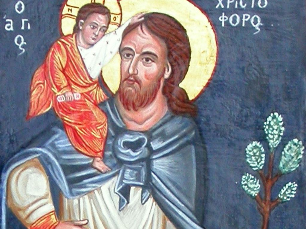 Ikoon van de Heilige Christoffel (Christoforus)